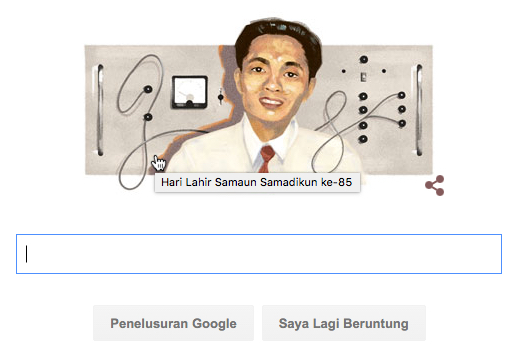 Google Doodle : Prof. Samaun Samadikun